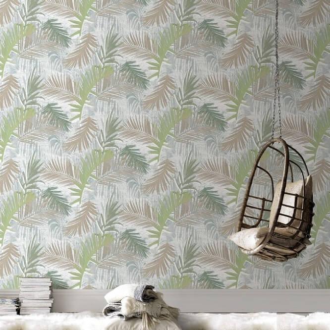 Décoration jungle papier peint